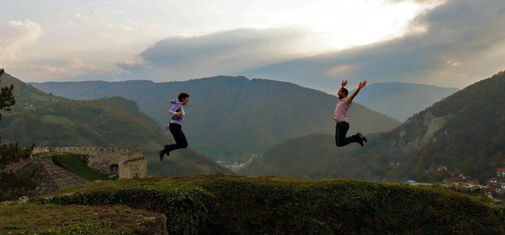 Escuché viajando en la fortaleza de Jajce (Bosnia y Herzegovina)