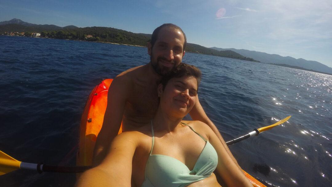 Escuché viajando en kayak en Loviste (Croacia)