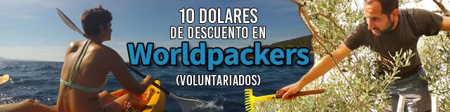 10 dolares de descuento en Worldpackers
